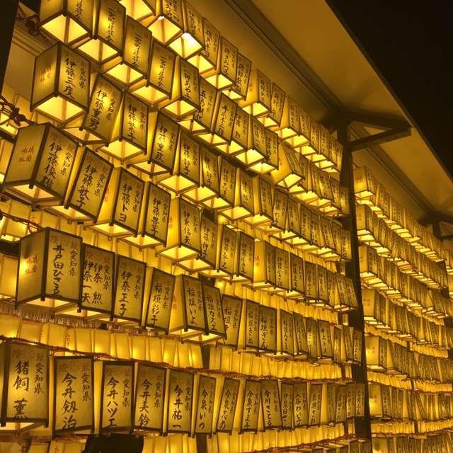 靖国神社の御霊祭りの提灯です。