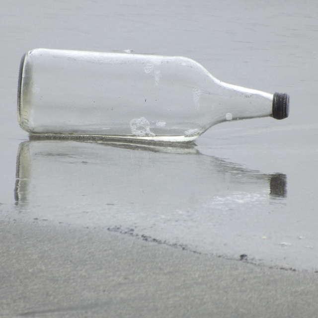 Empty Bottle On Shore