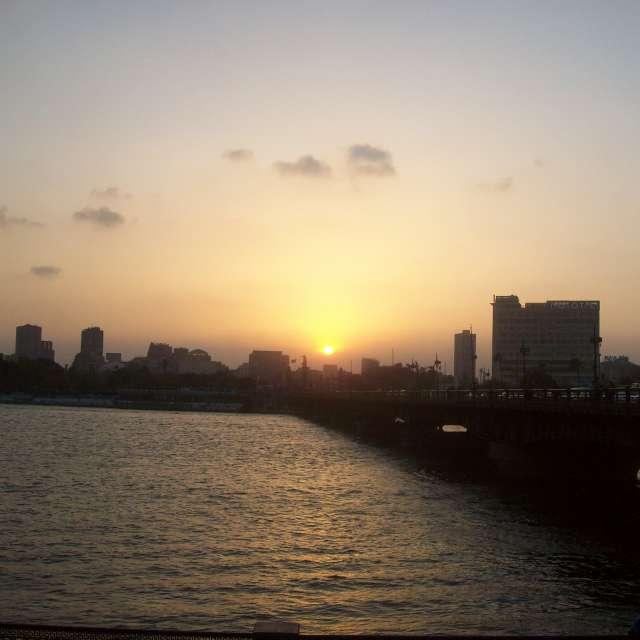 カイロの夕陽