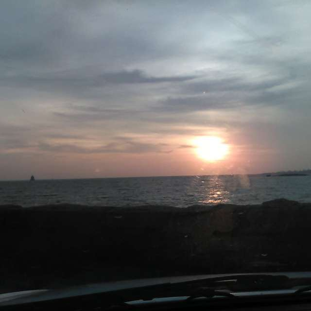 Sun Setting Over Avery Point