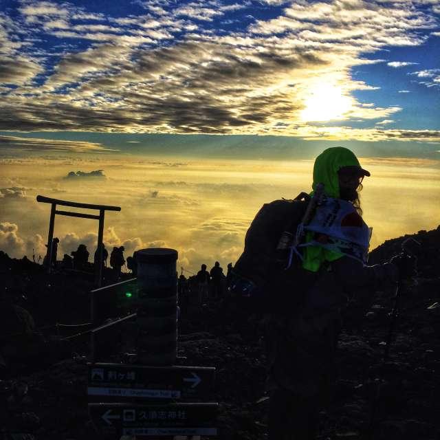 On top of majestic Fujisan
