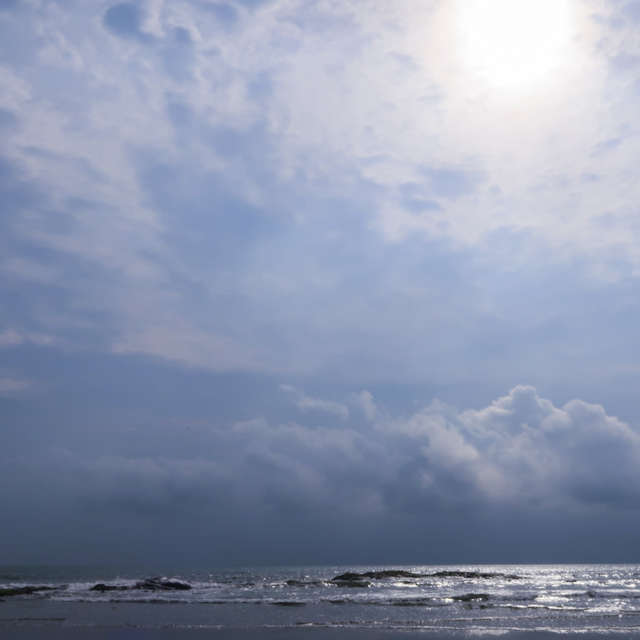 Sun over ocean
