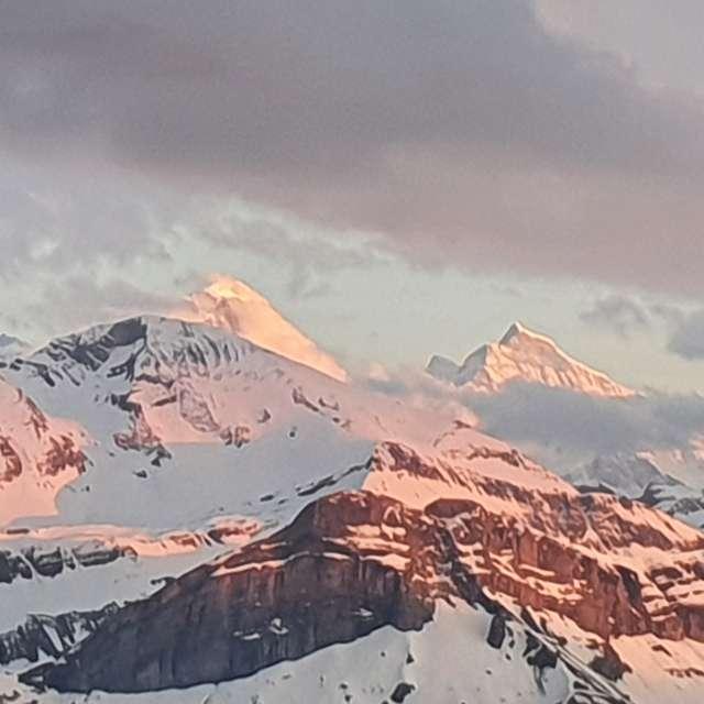 Alpenkette von Schönbühl aus