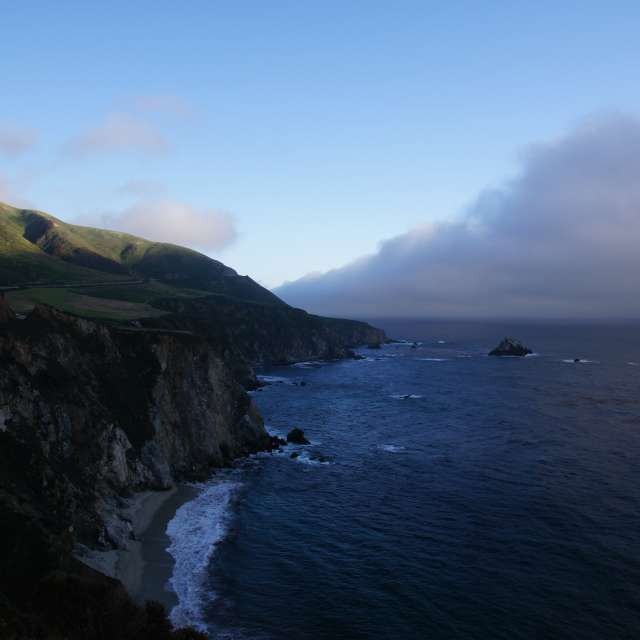 California PCH Fog Big Sur
