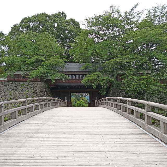 高島城の木橋