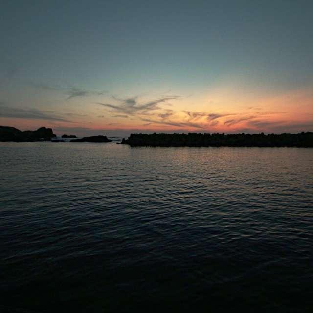 深浦からの夕陽