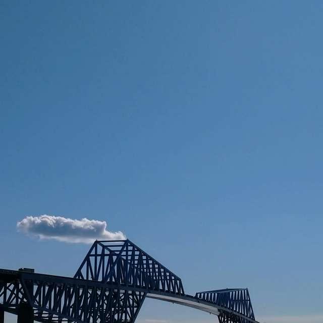快晴の恐竜橋
