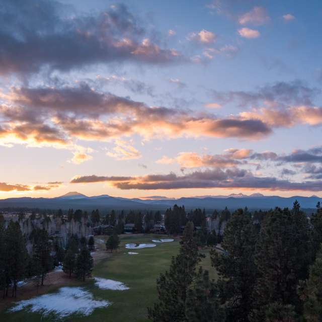 Cloudy night over Mt Bachelor