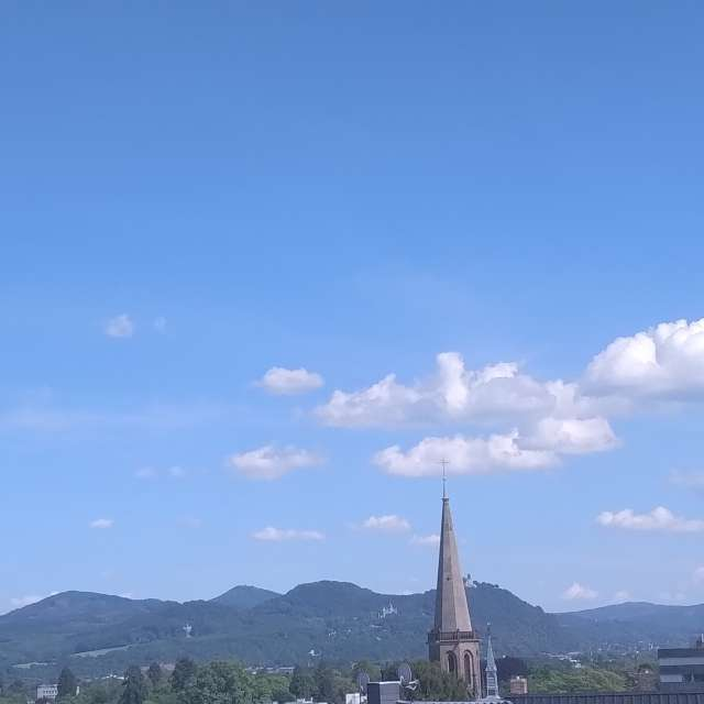 Blue Sky over Siebengebirge