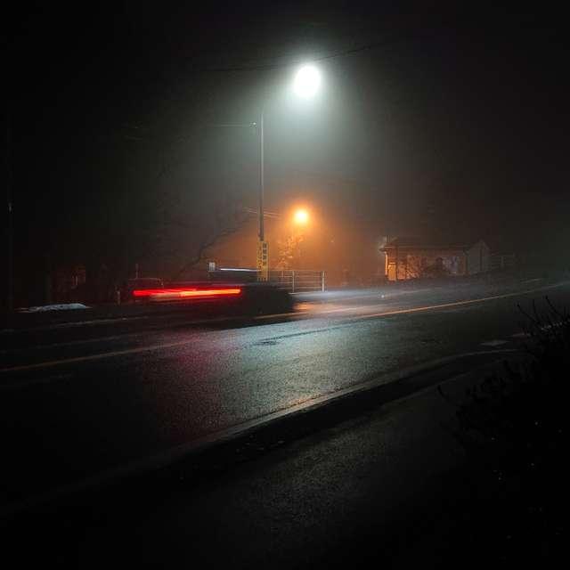 夜霧の国道をゆく