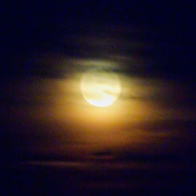 Moon with Hazy Clouds