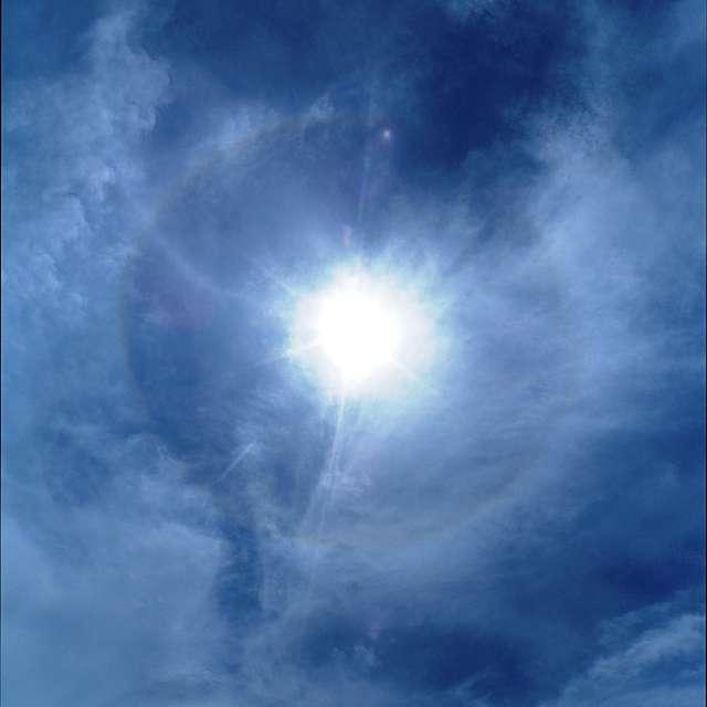 幻日環と環水平アークと22°ハロ