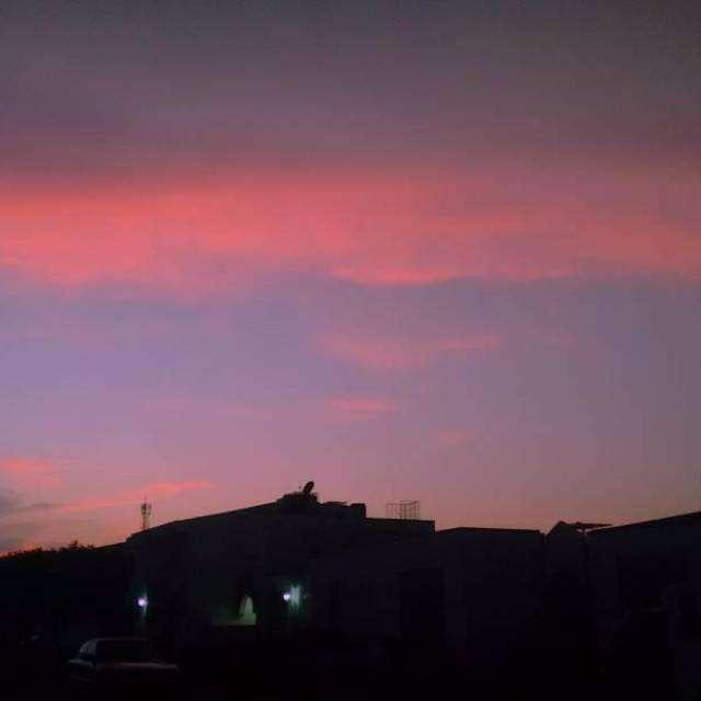 Beautiful sunset time.