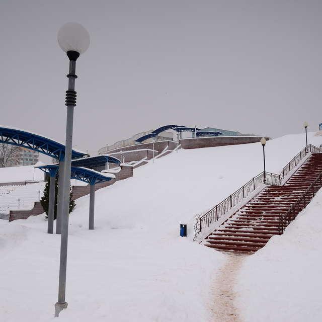 Набережная Днепра. Зима.