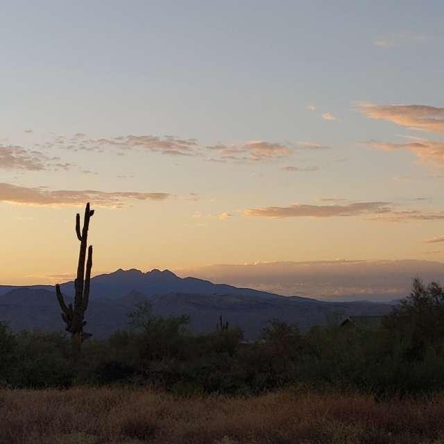 Four Peaks at sunrise