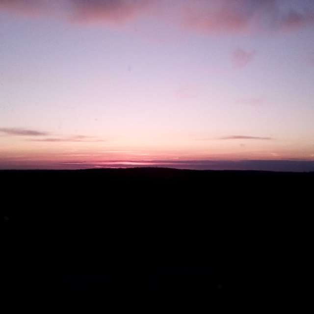 A Nearly Cloudless Sunset