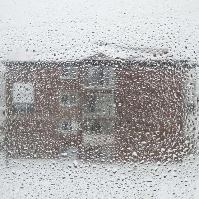 Ice stucking on the window