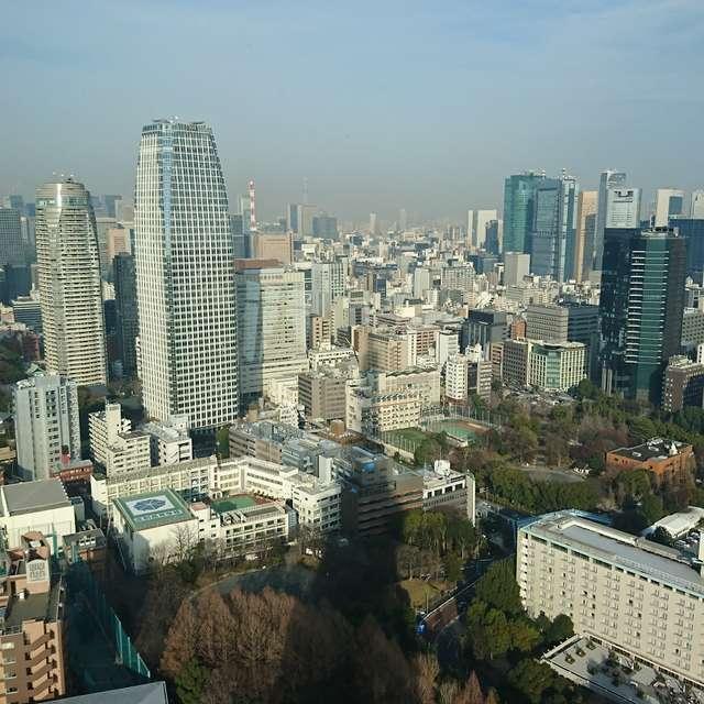 遠くにスカイツリー 影は東京タワーw
