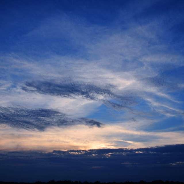 Blue and Orange Sunset