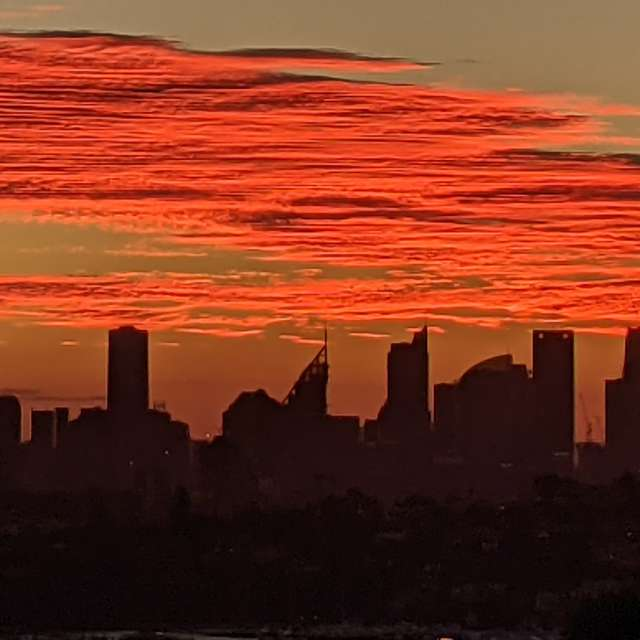 Sunset over Sydney Australia