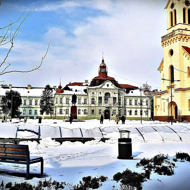 Zrenjanin winter