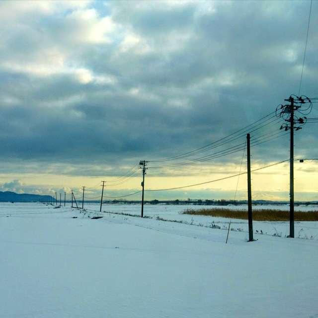 静かな雪国の朝