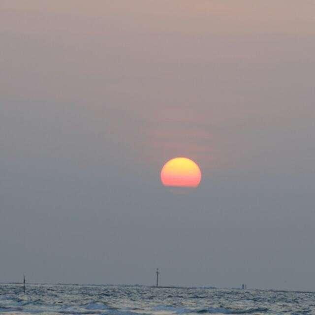 日落海平线