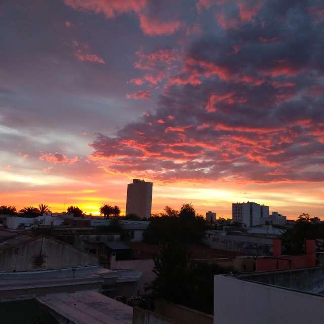 Atardecer en Bahía Blanca