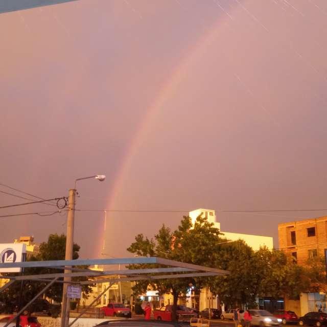 arco iris post lluvia