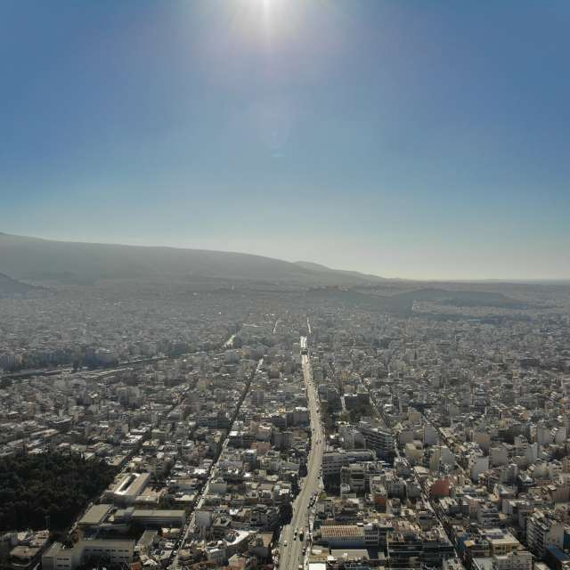 Athens Greece from above