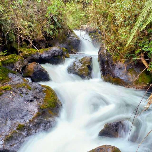 Papallacta River Waterfall