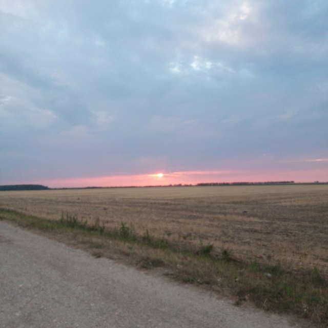 Sonnenuntergang bewölkt