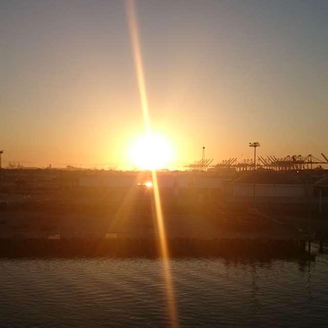 Sun rise LA