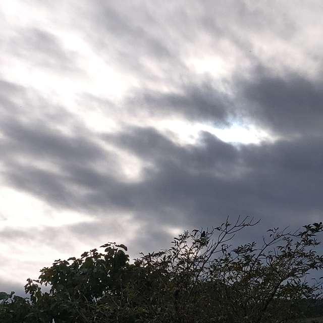 Nubes grises tapan el sol.