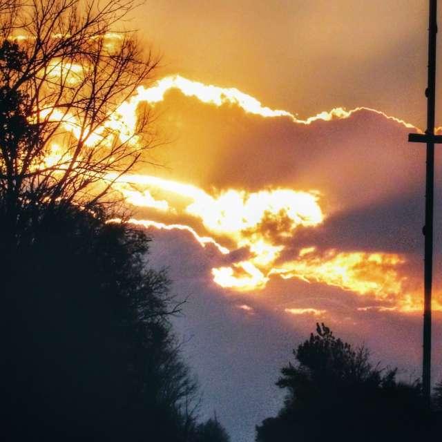 Sun Rays at Sunrise