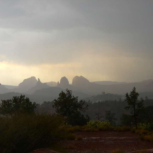 sedona monsoon rains