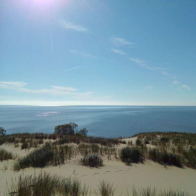 Дюны и залив