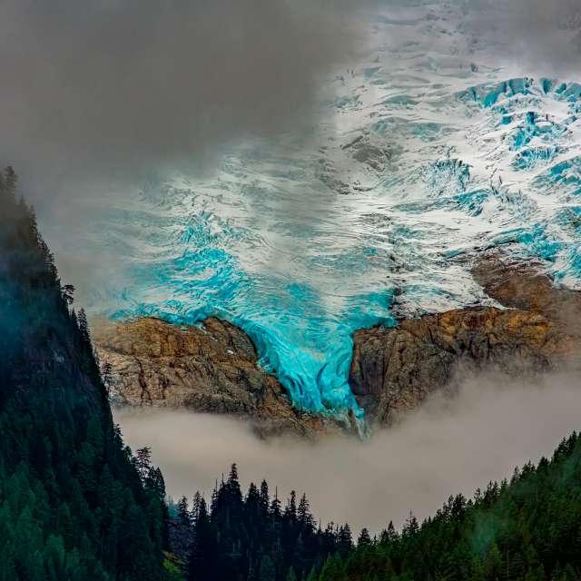 Glacier, Coast Mtns., BC, CA