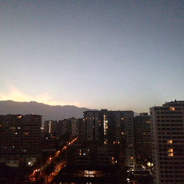 Sunrise at Los Andes mountains