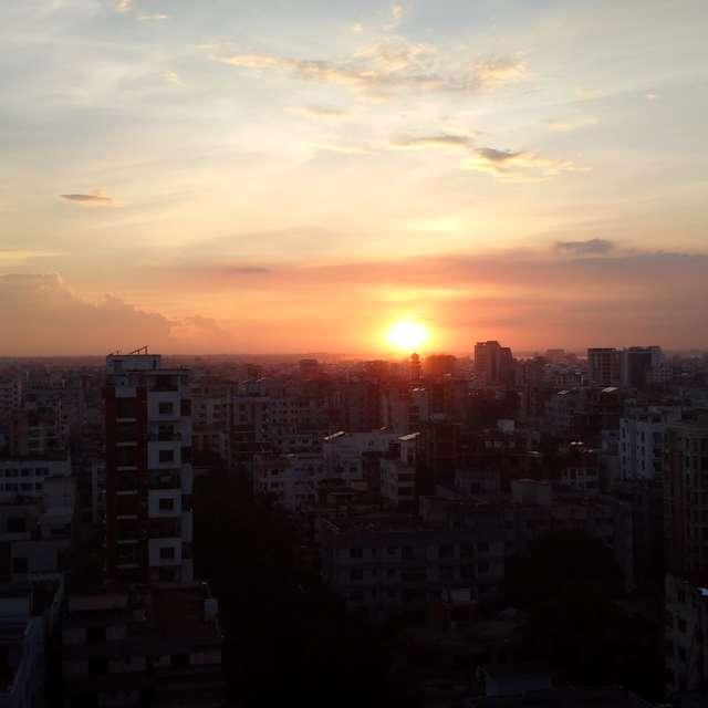 sunset at Dhaka city