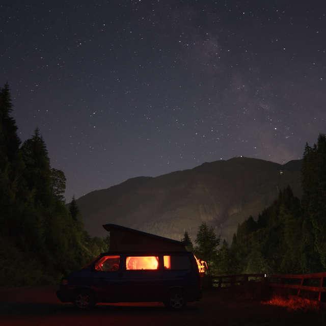 Eine Nacht unter freiem Himmel
