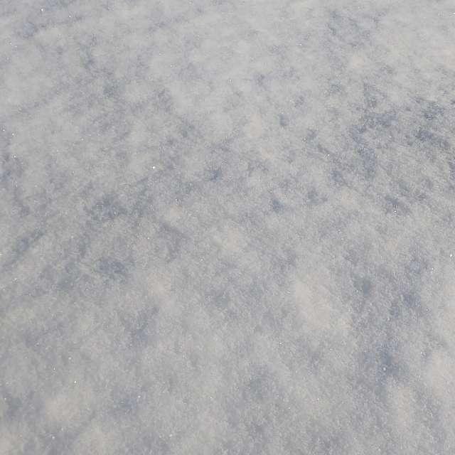 冬晴れの雪原