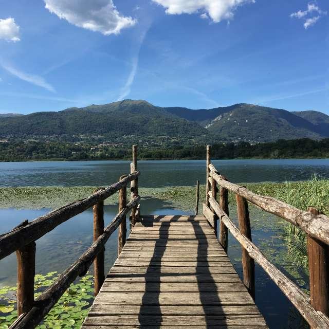 Lake of Alserio Italy