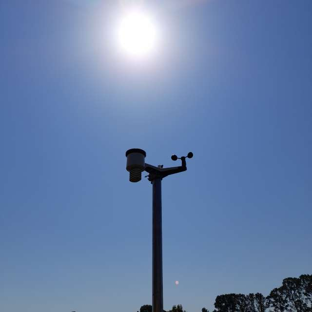 Weather station in summer