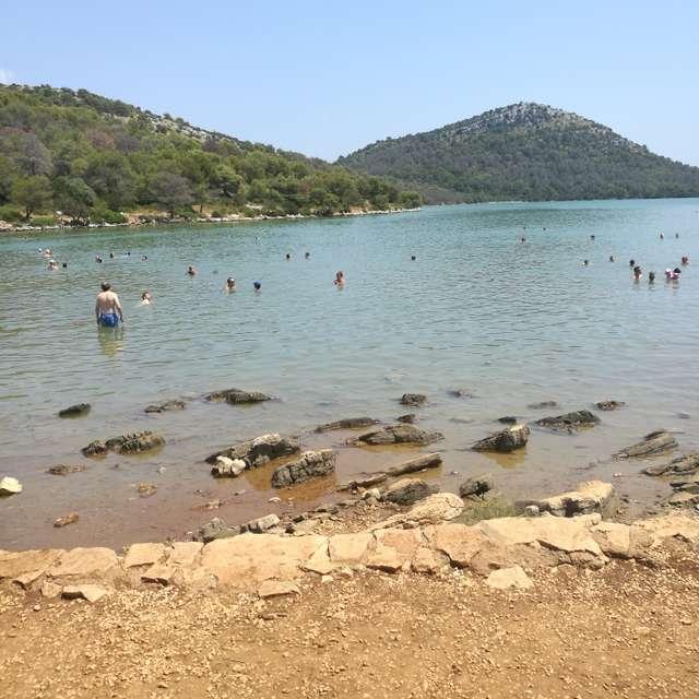 Croatia salt lake
