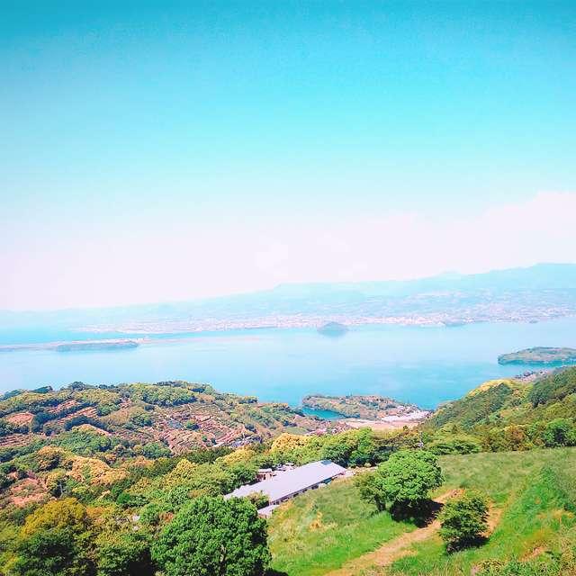 琴の尾岳から長崎空港を眺めて~🙌