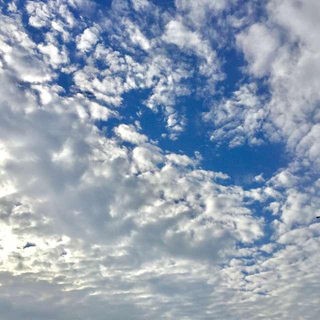 空一面に広がる雲と青空