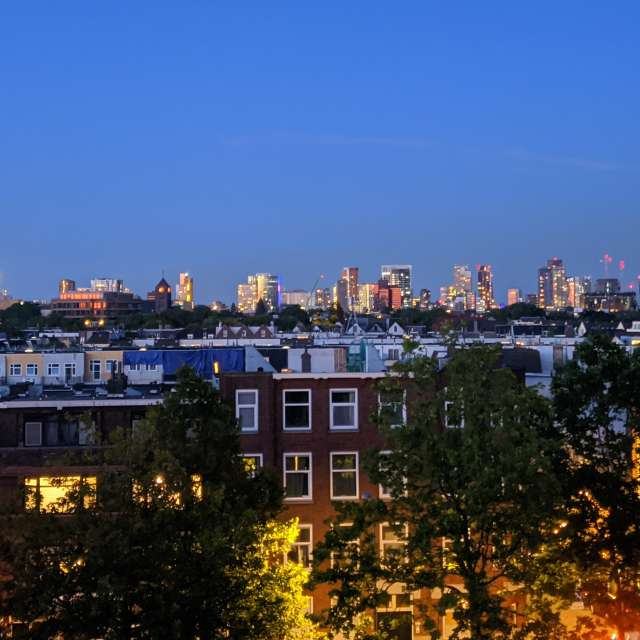 Evening view over Rotterdam