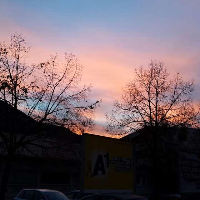 Bunter Himmel über Salzburg