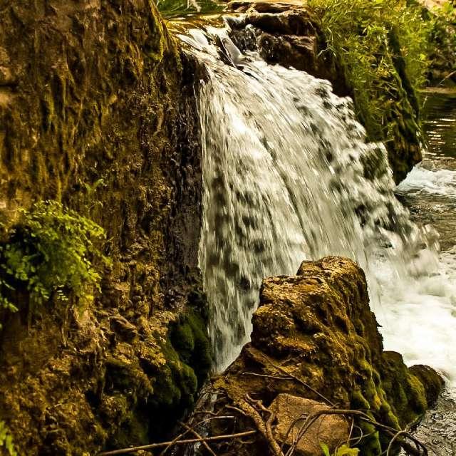 Spring waterfalls
